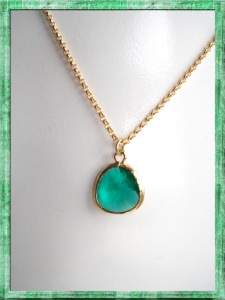 Emerald pendant :: Etsy.com